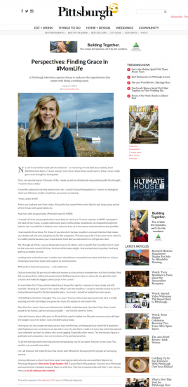 writing sample pittsburgh magazine finding grace in motherhood