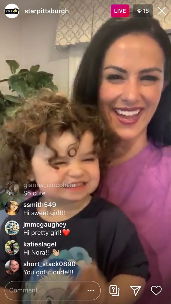 Instagram live of Kelly and her daughter on 100.7