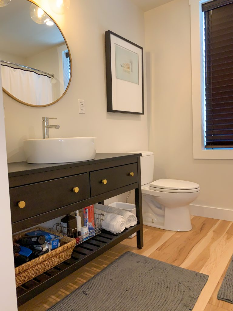 White guest bathroom